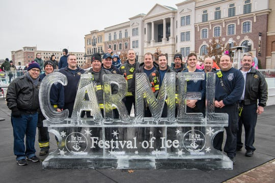 City of Carmel firefighters during the Festival of Ice 2018