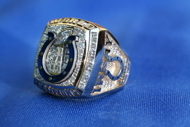 Indianapolis Colts players and coaches  received rings for their Super Bowl XLI victory. A ring issued to defensive lineman Montae Reagor is being advertised for sale.
