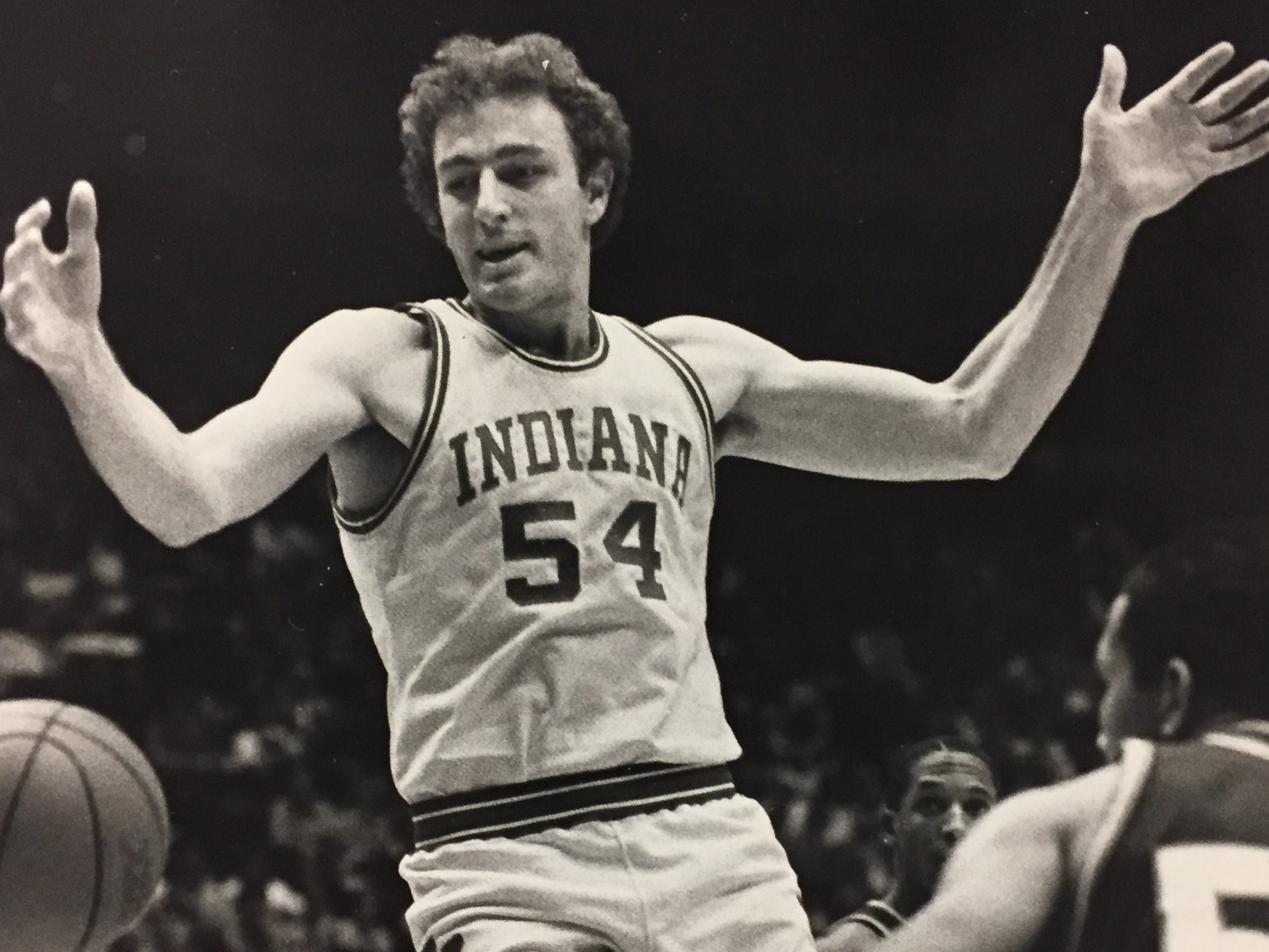 Steve Bouche gets the ball knocked from his hands against Eastern Michigan on Dec. 10, 1982.