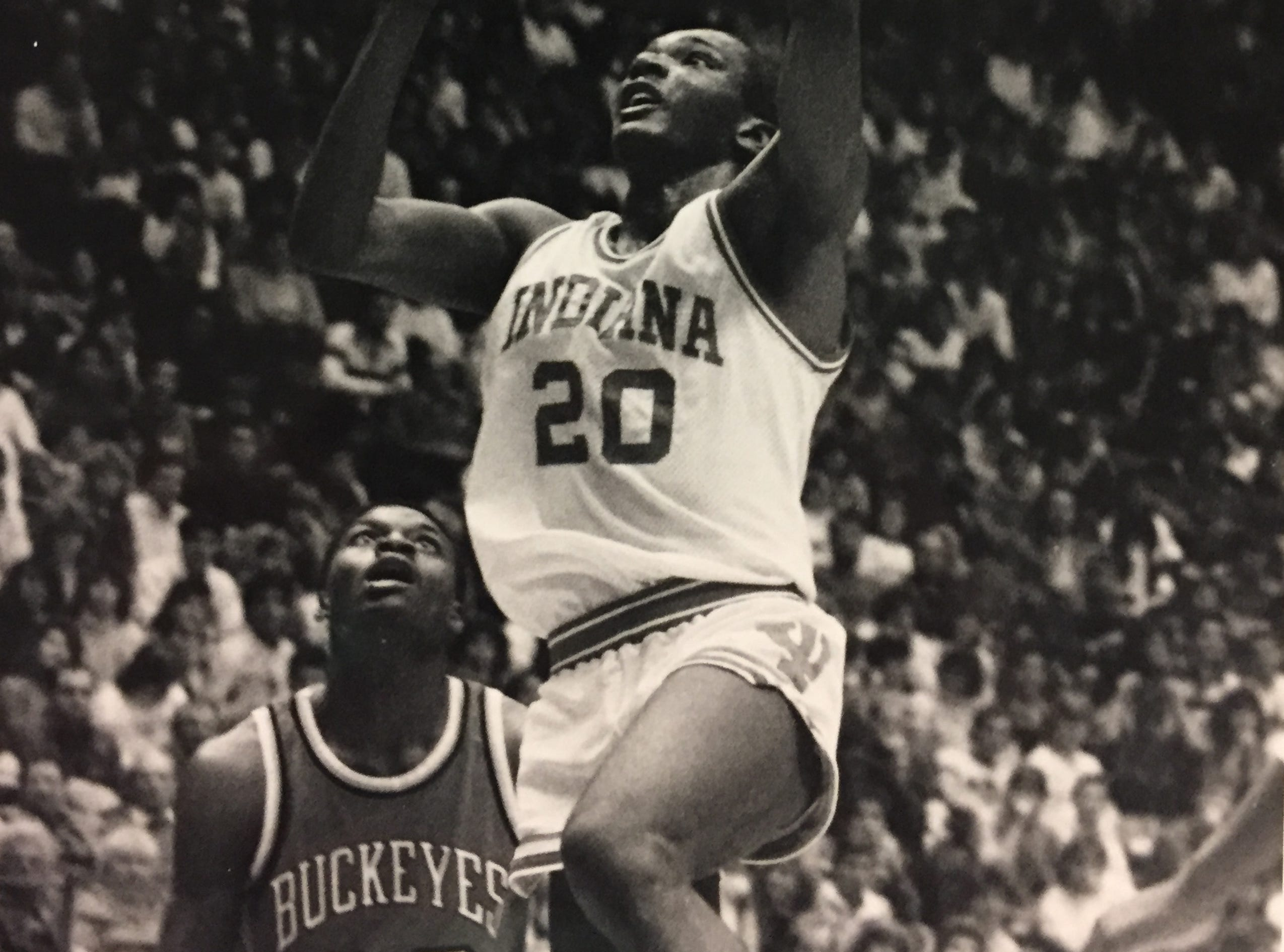 Ricky Calloway goes up for a shot against Ohio State in 1987.