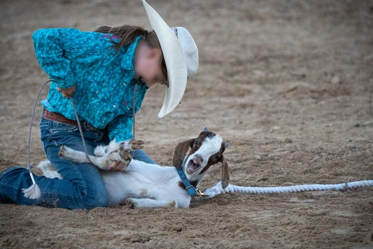 This image was presented during animal advocate Lynn Gallagher at Monday, Jan. 7 Johnson County Board of Supervisor meeting. It depicts a rodeo event called goat tying. While this event has been a part of the rodeo, this picture was not taken at the county's rodeo.