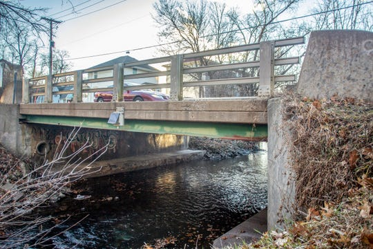 A bridge on Governor Street runs over Ralston Creek on Tuesday, Jan. 8, 2019, between Iowa Avenue and Jefferson Street in Iowa City.
