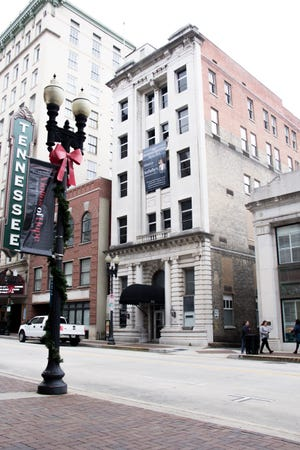 The Tennessee Theatre (far left) finalized its purchase of four floors within the building at 612 S. Gay St. (right) last week. One building sits between the two.