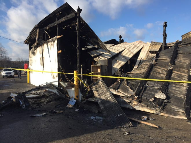 A fire destroyed Wise Auto Care in Carroll Monday night. The fire was contained to the back of the building, but owner Andrew Wise said the front portion of the building has too much smoke and water damage to be saved.
