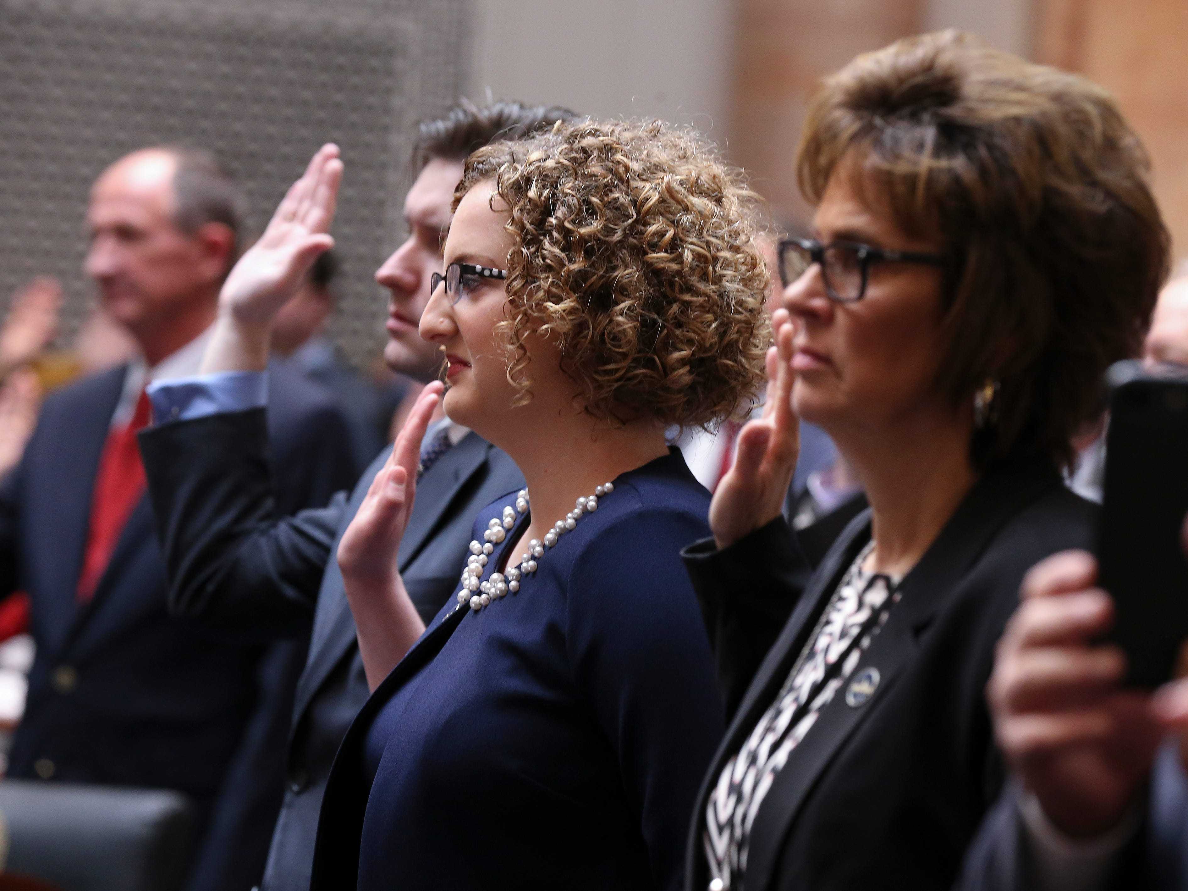 House members were sworn in on the first day of the legislative session for 2019.Jan. 8, 2019