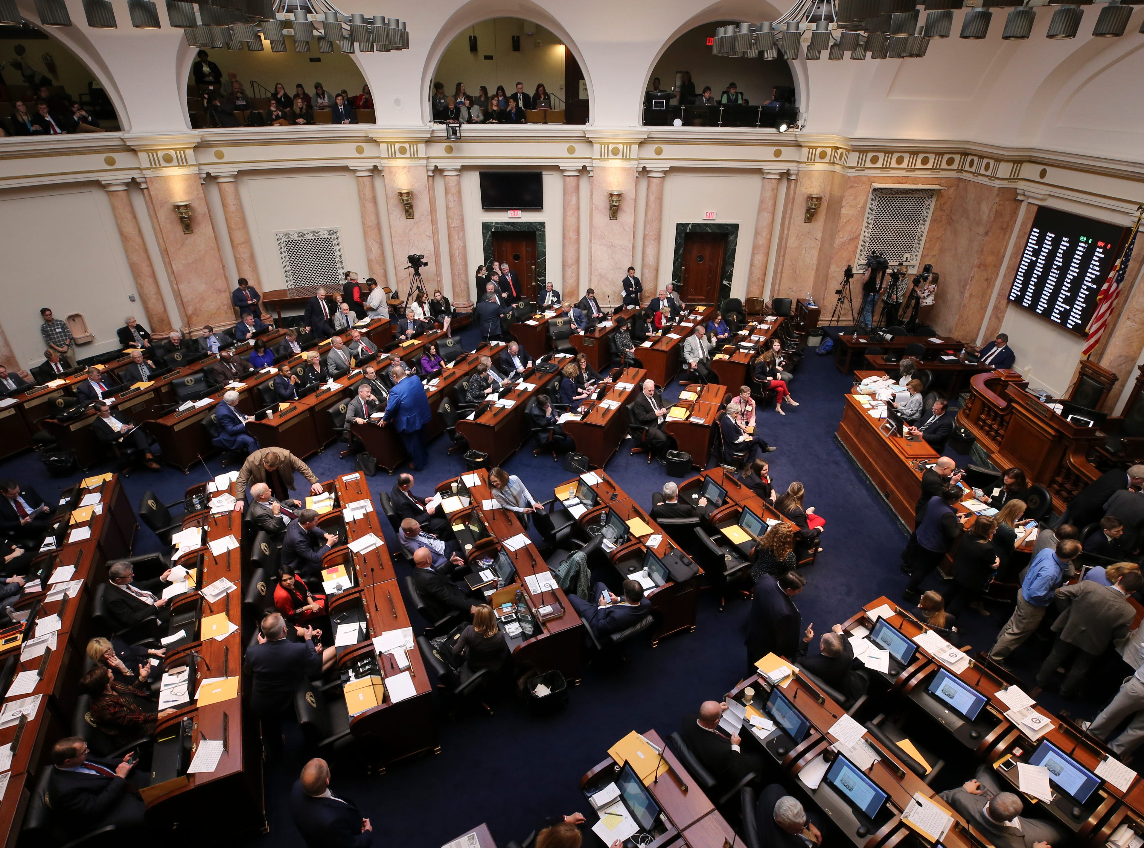 The House convened on the first day of the legislative session for 2019.Jan. 8, 2019
