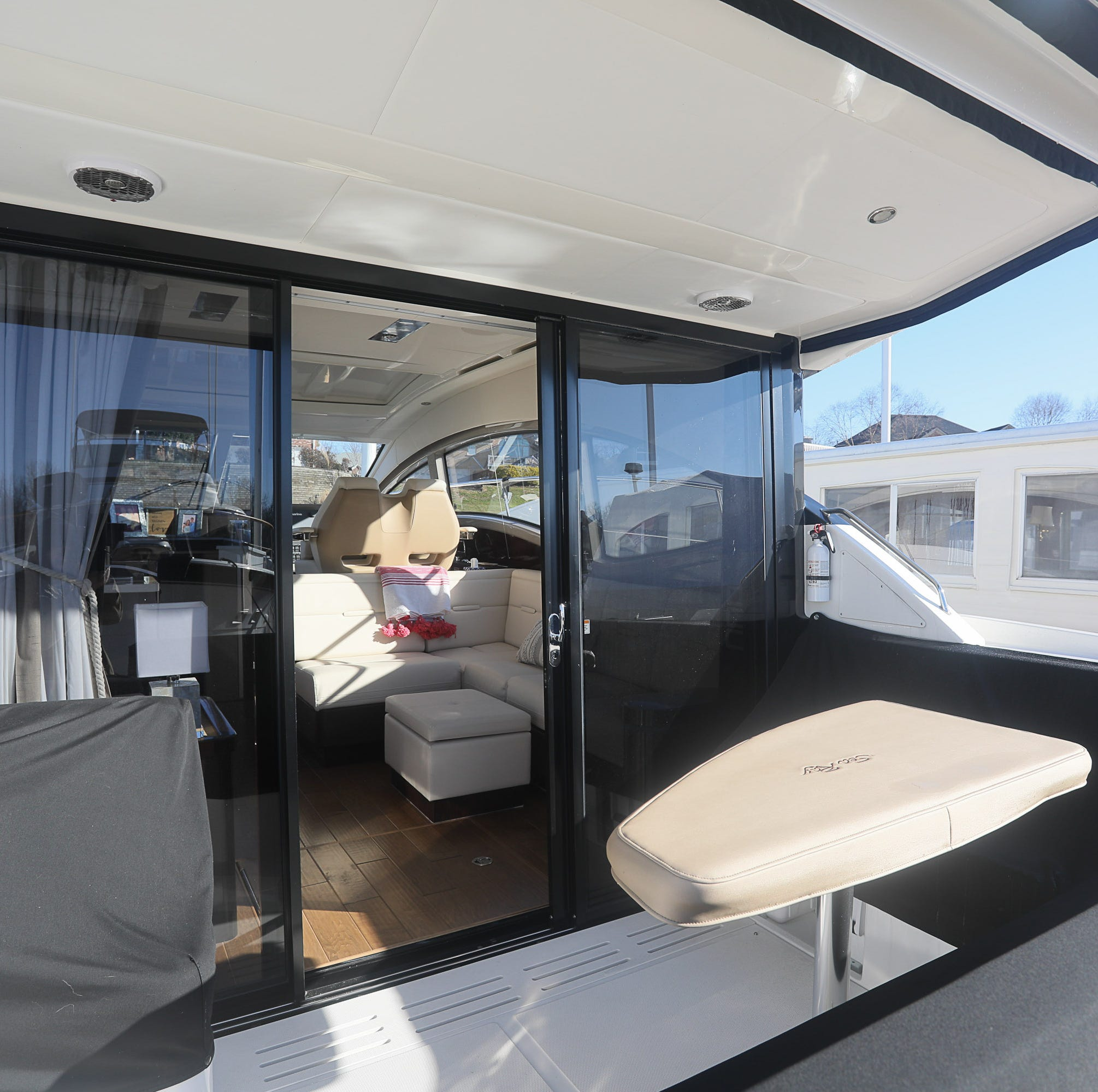 This luxurious Sea Ray 400 Sundancer is like a floating condo