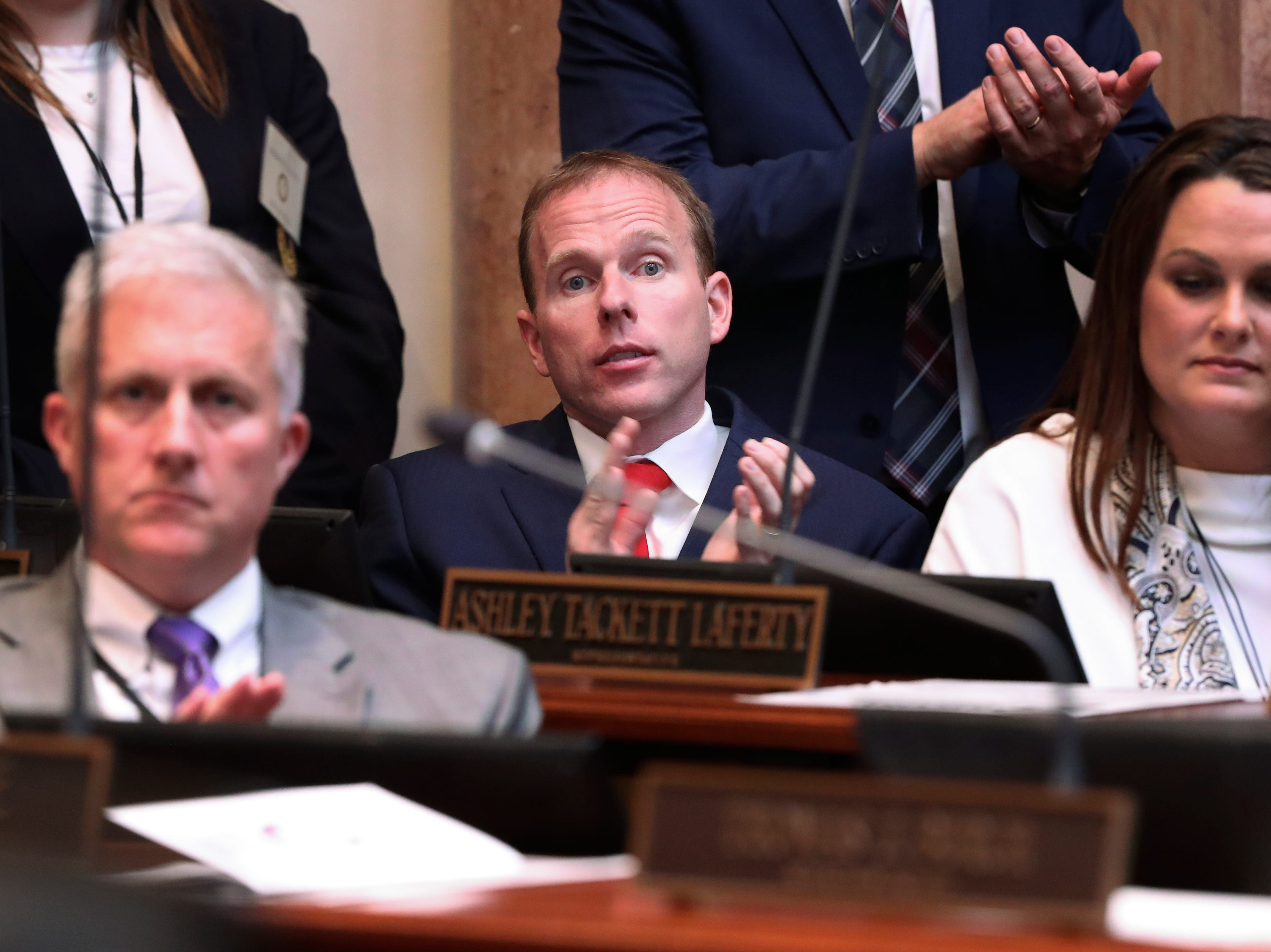 Rep. Robert Goforth sat on the House floor.  He announced Tuesday morning that he will seek the Republican nomination for governor in the spring.Jan. 8, 2019