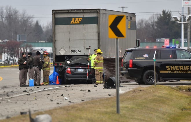 At least one person was killed in a two-vehicle crash in St. Johns on Jan. 8.