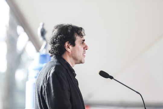 Joel Weinshanker, managing partner of Graceland, speaks during the Elvis birthday proclamation ceremony Jan. 8, 2019, on Graceland's north lawn.