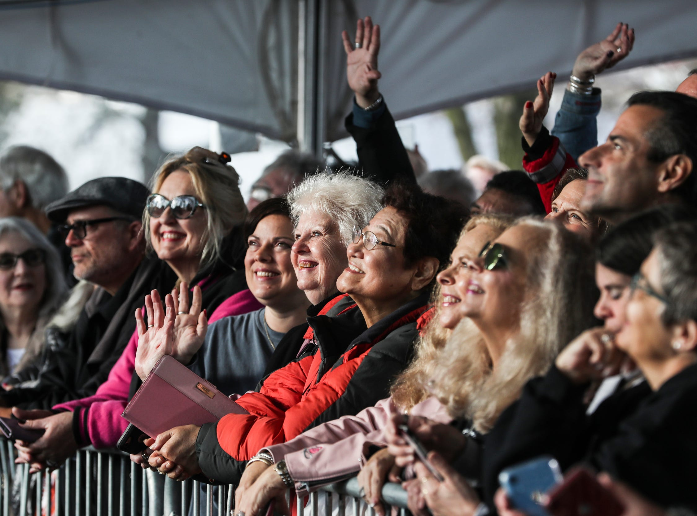 January 08 2019 - Fans smile and wave while celebrating Elvis' birthday on Graceland's north lawn during the Elvis Birthday Proclamation Ceremony on Tuesday. Tuesday would have been Elvis' 84th birthday.