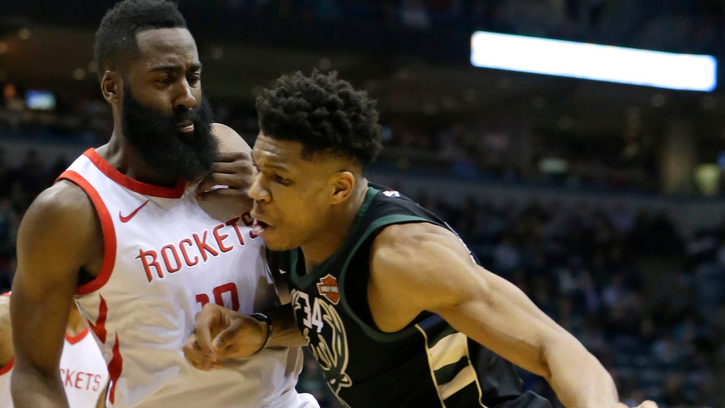 Mvp Front Runners Giannis Antetokounmpo James Harden Set To