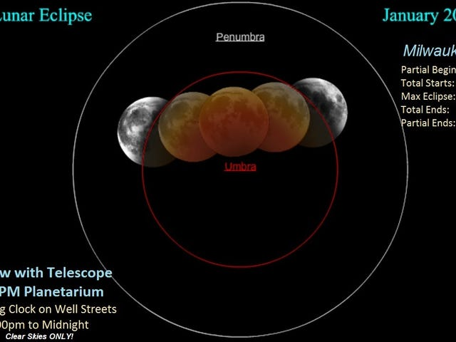 First total lunar eclipse in Wisconsin in more than three years