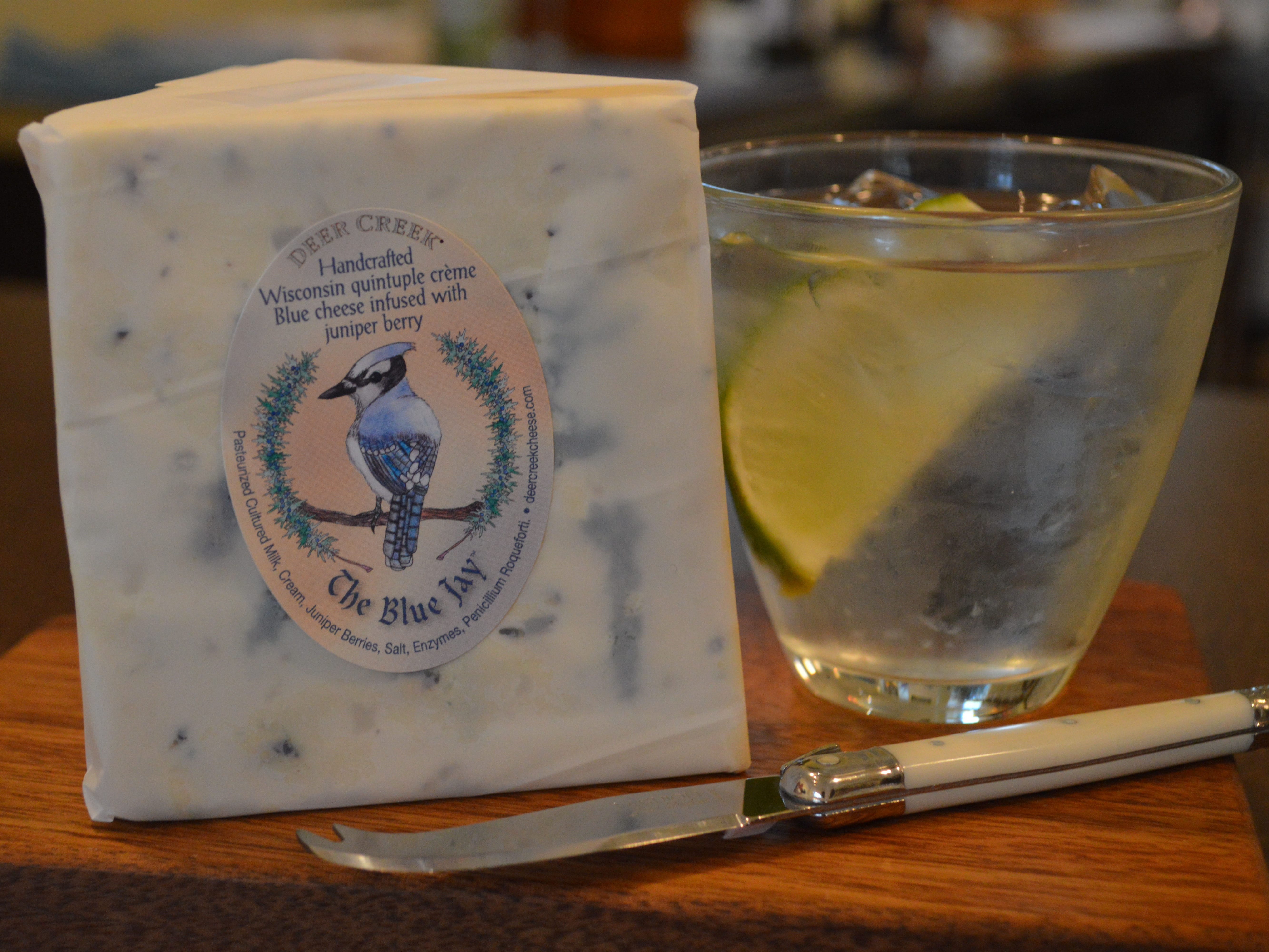If gin and tonic is your go-to cocktail, try it with Deer Creek's handcrafted Wisconsin quintuple creme blue cheese infused with juniper berries, said Sabina Magyar, proprietor of The Village Cheese Shop in Wauwatosa.