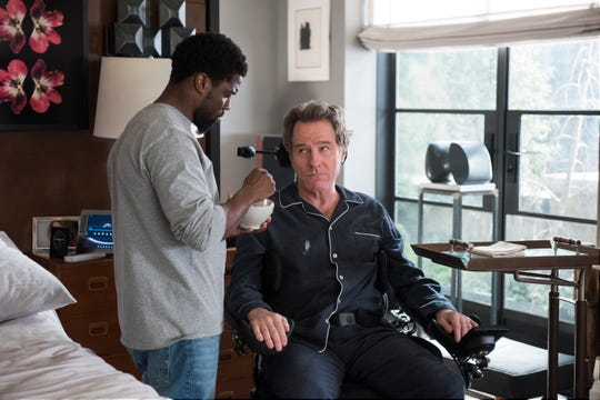 "Kevin Hart plays an ex-convict hired to be an unlikely assistant, and unlikelier friend, to a paralyzed billionaire (Bryan Cranston) in ""The Upside."""