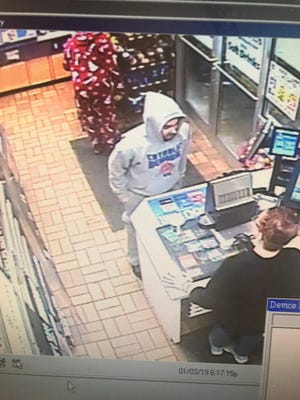 Waukesha police are seeking the identity of this man, who is a suspect in a Jan. 3 robbery at the Speedway convenience store at 521 S. Grand Ave. Authorities posted the image on the Waukesha Police Department's Facebook page on Jan. 7.
