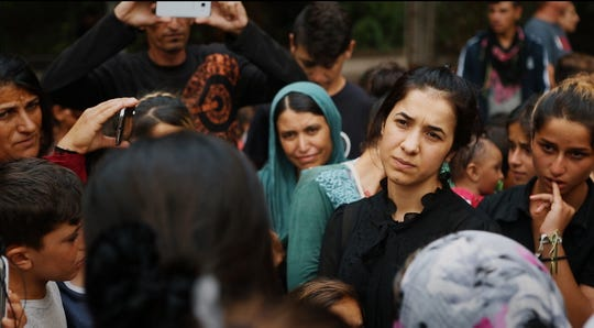"Nadia Murad and her fight for the freedom of oppressed Yazidis in Iraq are the focus of the documentary """"On Her Shoulders."""