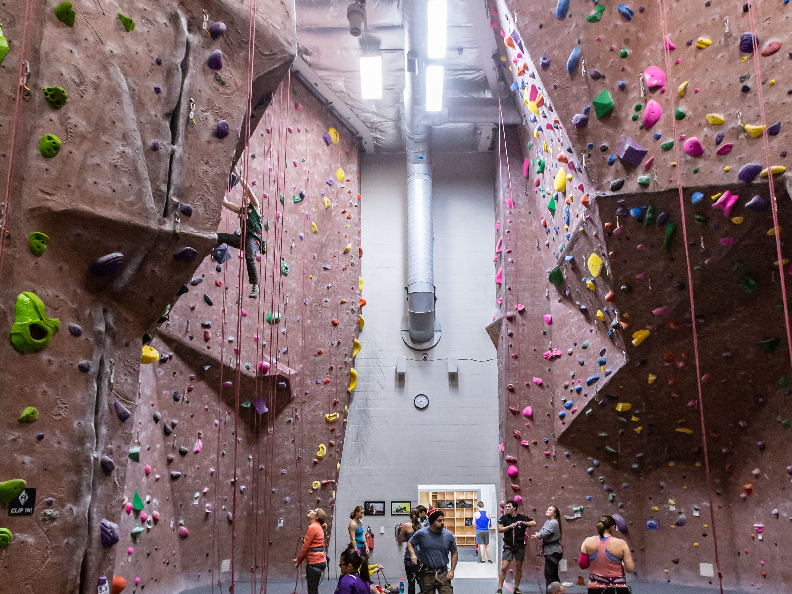 Adventure Rock locations in Brookfield and Milwaukee offer a variety of climbing surfaces with varying difficulties for local high school teams to hone their skills on.