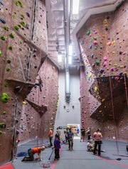 Adventure Rock  offers a variety of climbing surfaces with varying difficulties for climbers at all levels.