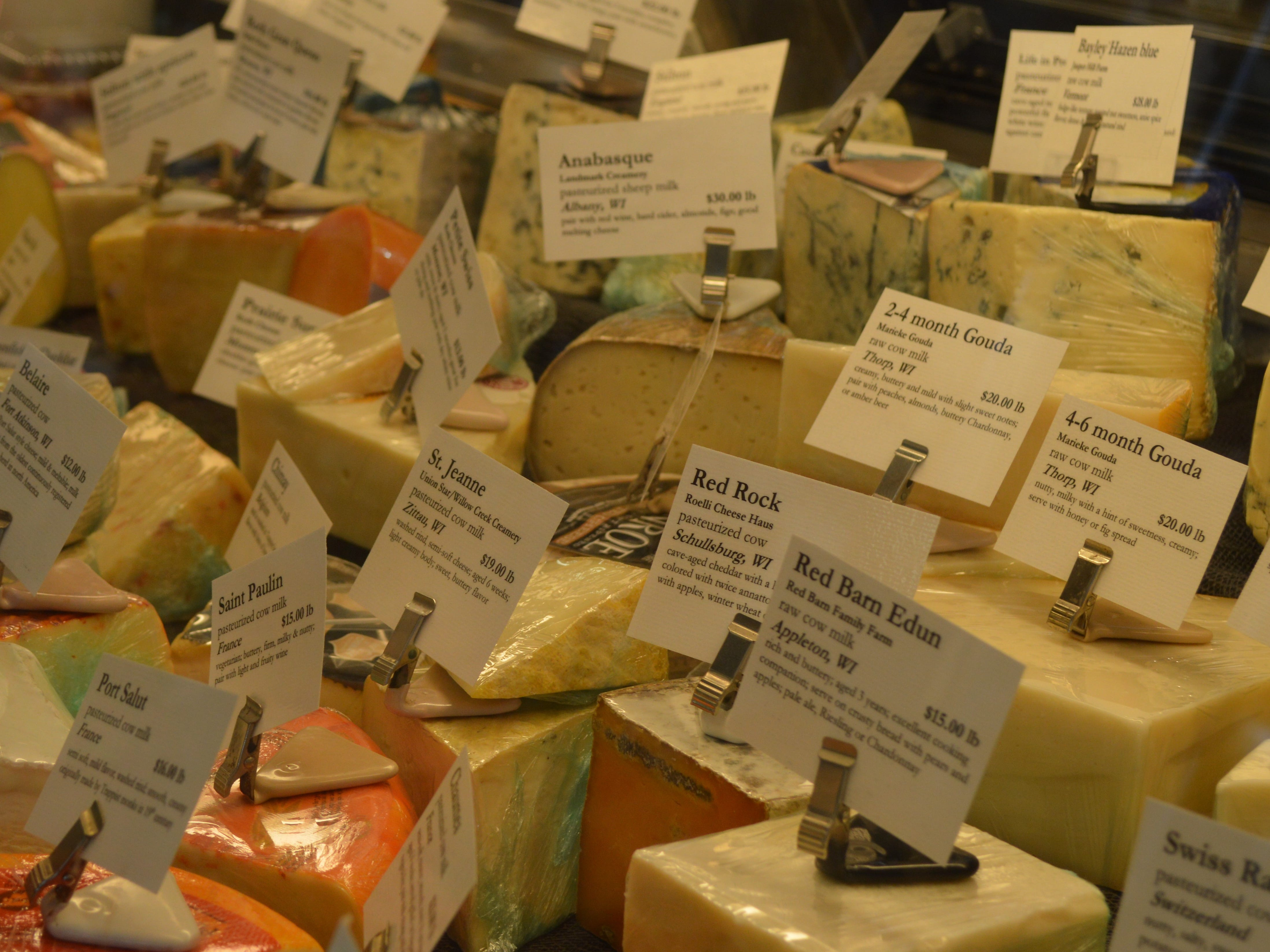 Larry's Market in Brown Deer carries over 150 cheeses from around the world.