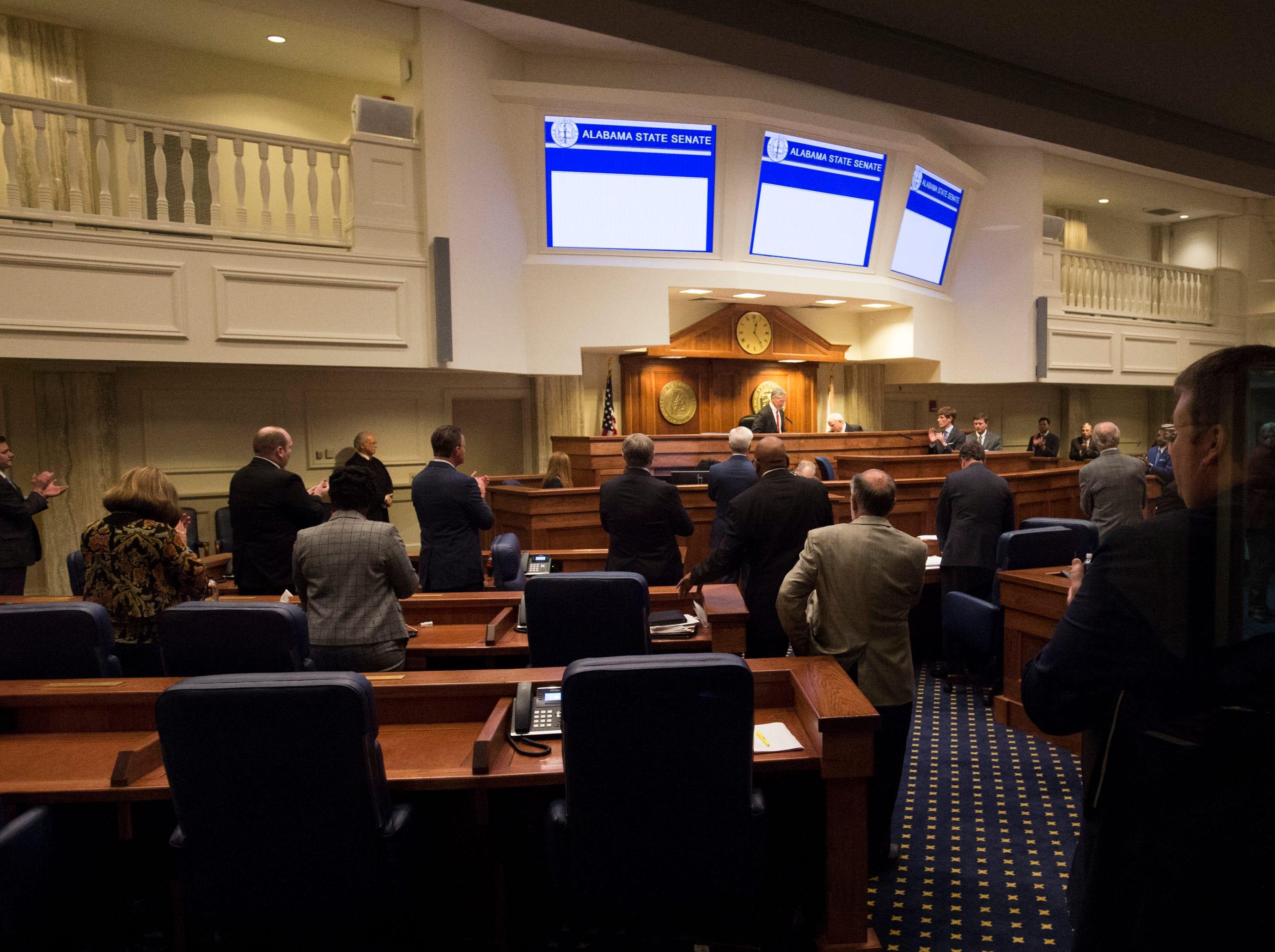 The Alabama State Senate during the 2019 Alabama Legislature's organizational session at the Alabama State House in Montgomery, Ala., on Tuesday, Jan. 8, 2019.