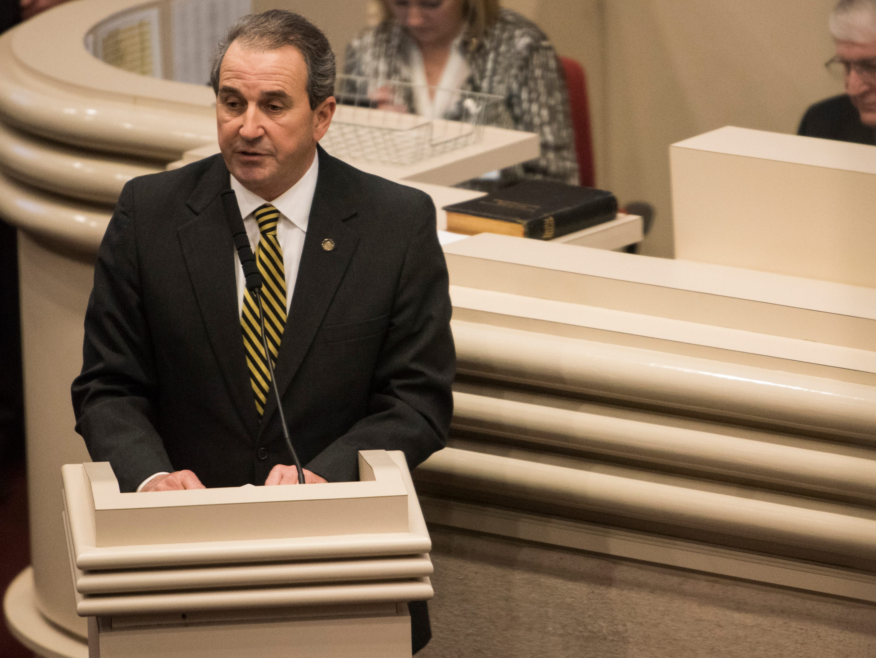 Rep. Steve Clouse during the 2019 Alabama Legislature's organizational session at the Alabama State House in Montgomery, Ala., on Tuesday, Jan. 8, 2019.