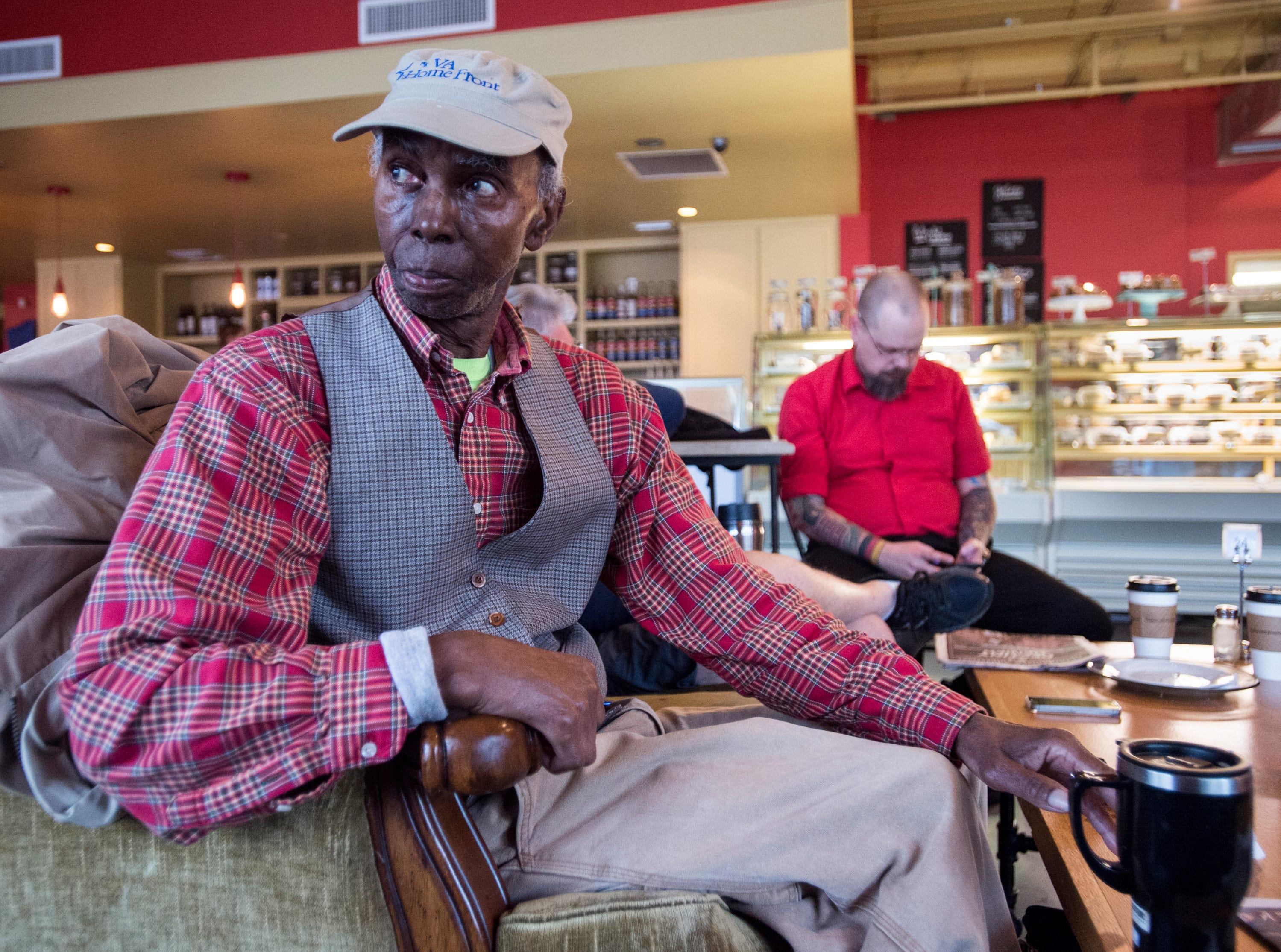 Selma Williams enjoys his coffee at Cafe Louisa in Montgomery, Ala., on Tuesday, Jan. 8, 2019.