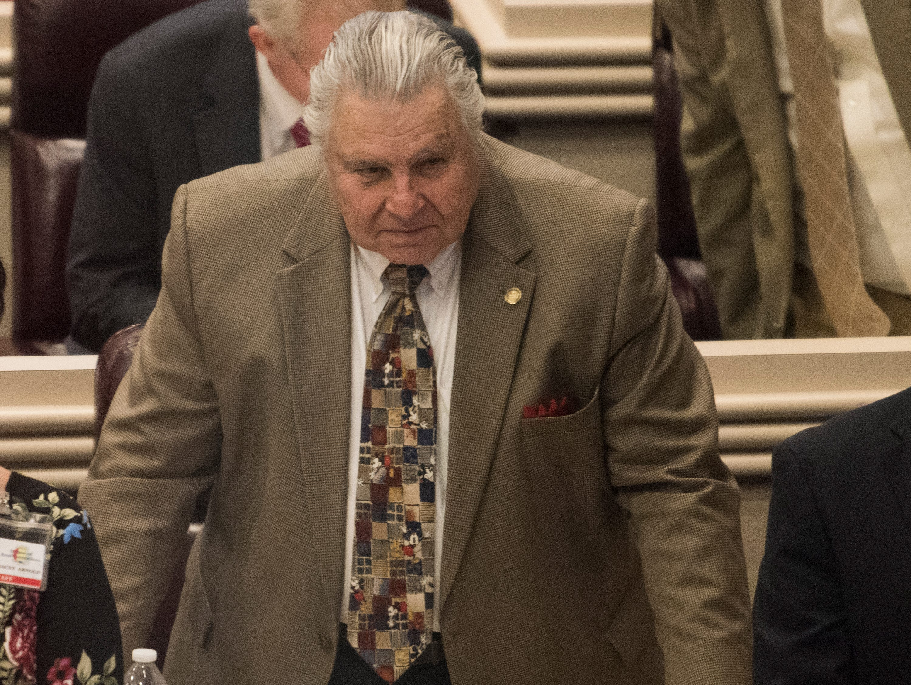 Rep. Dimitri Polizos during the 2019 Alabama Legislature's organizational session at the Alabama State House in Montgomery, Ala., on Tuesday, Jan. 8, 2019.