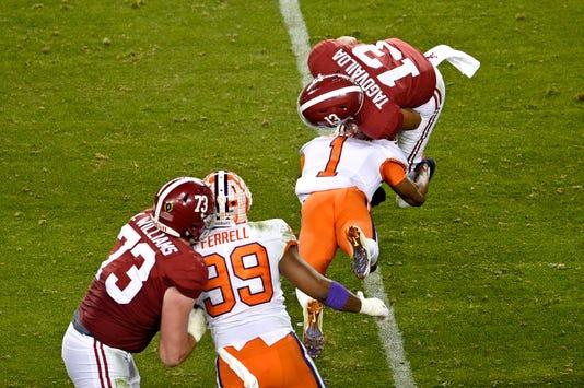 Ncaa Football College Football Playoff National Championship Clemson Vs Alabama