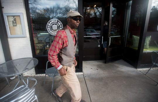 Selma Williams walks into Cafe Louisa in Montgomery, Ala., on Tuesday, Jan. 8, 2019.