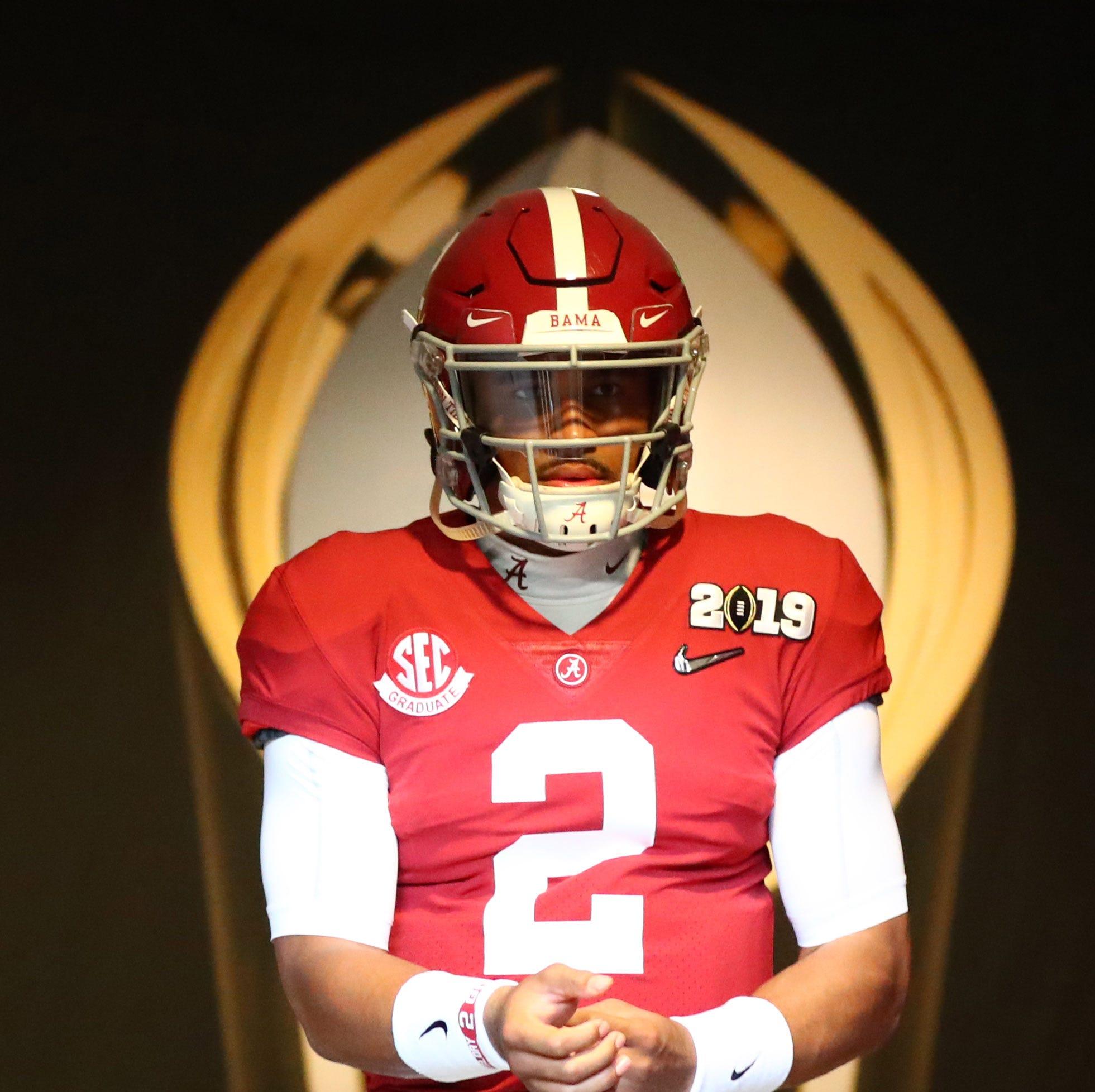 Reports: Alabama QB Jalen Hurts' name in NCAA transfer database