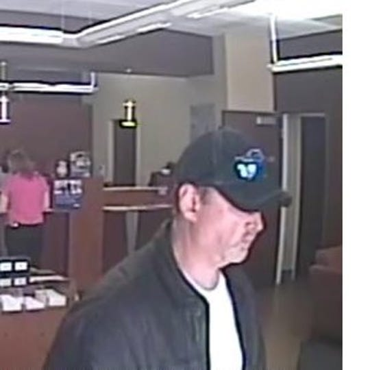 A picture from surveillance footage of a suspect police say robbed a bank in Mt. Juliet on Tuesday, Jan. 8, 2019.