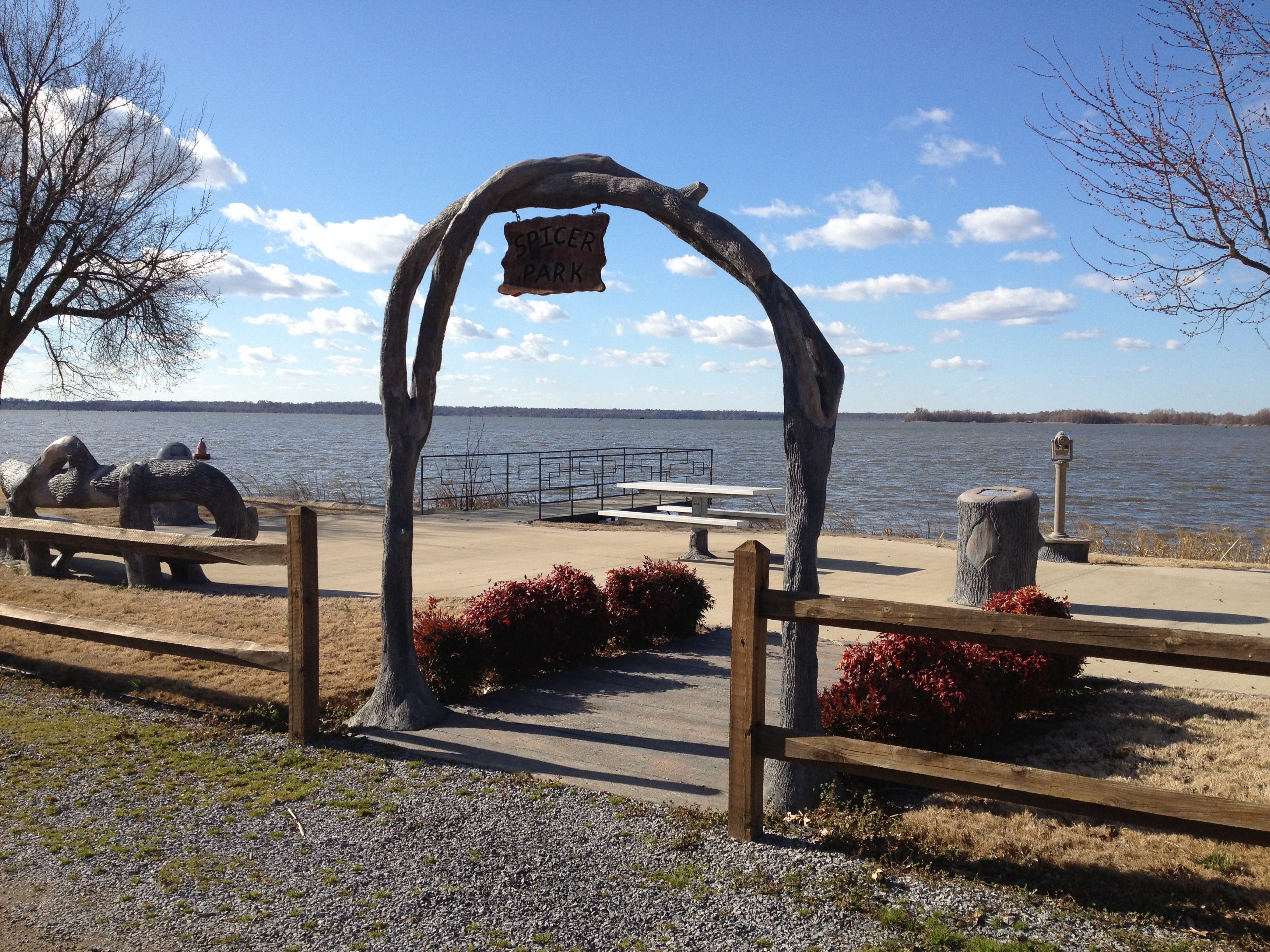 Walkways and sitting areas offer spots for visitors to take in vistas of Reelfoot Lake.