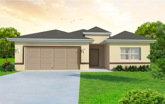 The Fiesta, a  three-bedroom design, is  under construction by Fl Star on acreage in Golden Gate Estates.