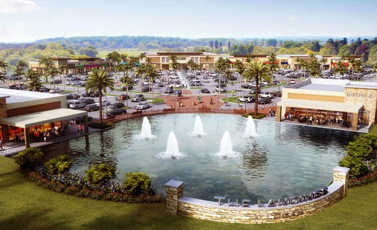 A rendering of Logan Landings retail development under construction on the southeast corner of Immokalee Road and Logan Boulevard in North Naples. Off the Bone Rib House is one of the new restaurants planning to open here in 2019.