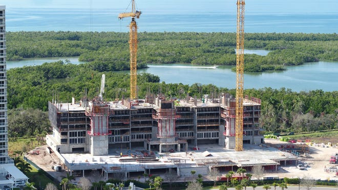 Kalea Bay's second tower is under construction and will feature 120 luxury residences when completed.