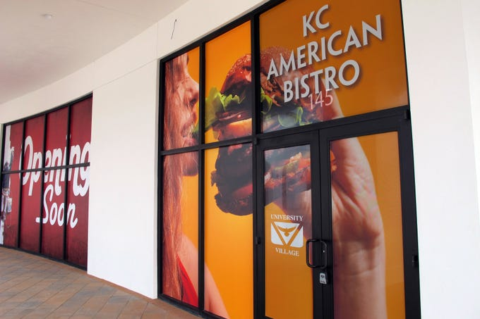 The second location of KC American Bistro is targeted to open at the end of March or the first week in April in University Village Shops off Ben Hill Griffin Parkway near Florida Gulf Coast University.