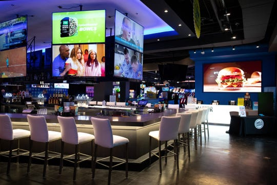 Dave & Buster's restaurant and video arcade, shown inside a mall in Corpus Christi, Texas, is targeted to open April 8 in Bell Tower Shops at U.S. 41 and Daniels Parkway in south Fort Myers.