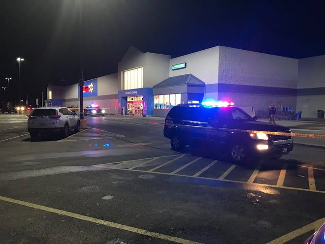 Police reported to a possible shooting at Walmart in Newark.