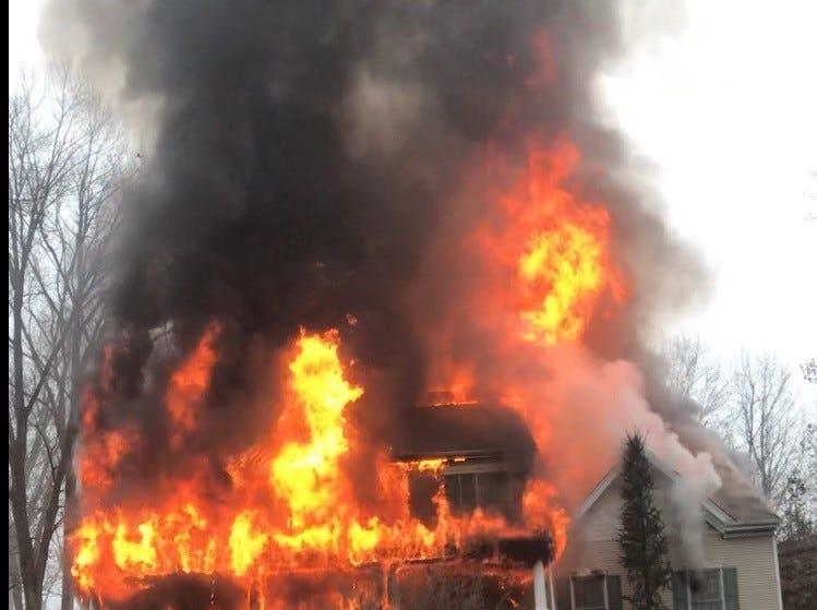 Three alarm fire on Skyview Road in Wayne.