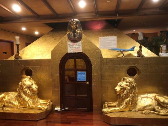 The gold sauna at King Spa in Palisades Park, NJ