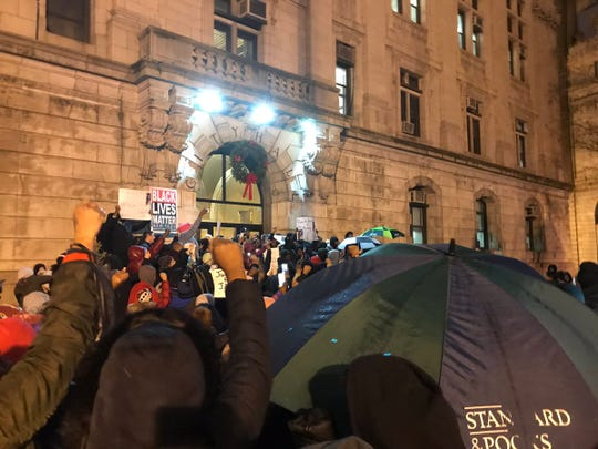 A rally was held on the steps of Paterson City Hall on Tuesday night calling for justice for Jameek Lowery, who died after posting a video at Paterson police headquarters two days earlier.