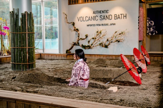 The Volcanic Sand Bath at SoJo Spa Club in Edgewater, NJ