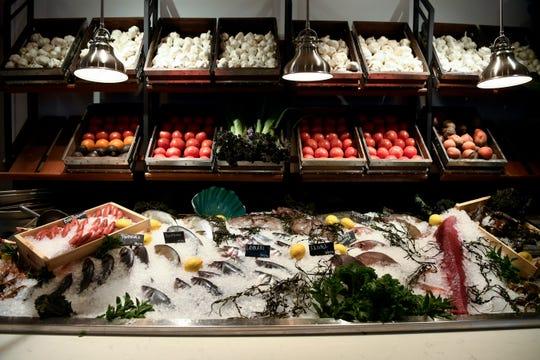 Fresh fish on display at Lefkes Estiatorio.
