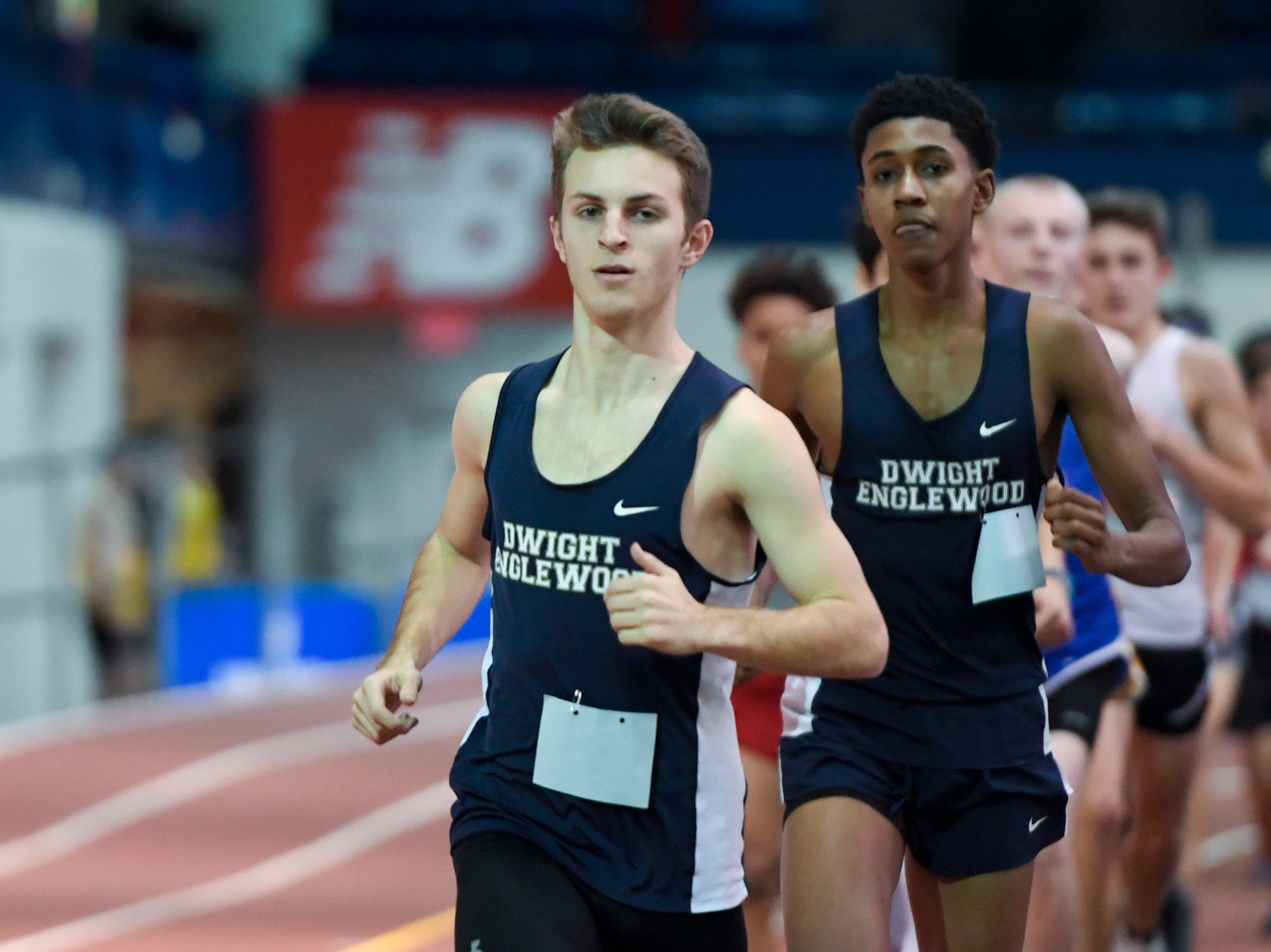 Jeremy Bronstein came in first for Dwight Englewood in the 3200-meter race during the NJIC track meet at the Armory Track on Monday, Jan. 7, 2019, in New York.