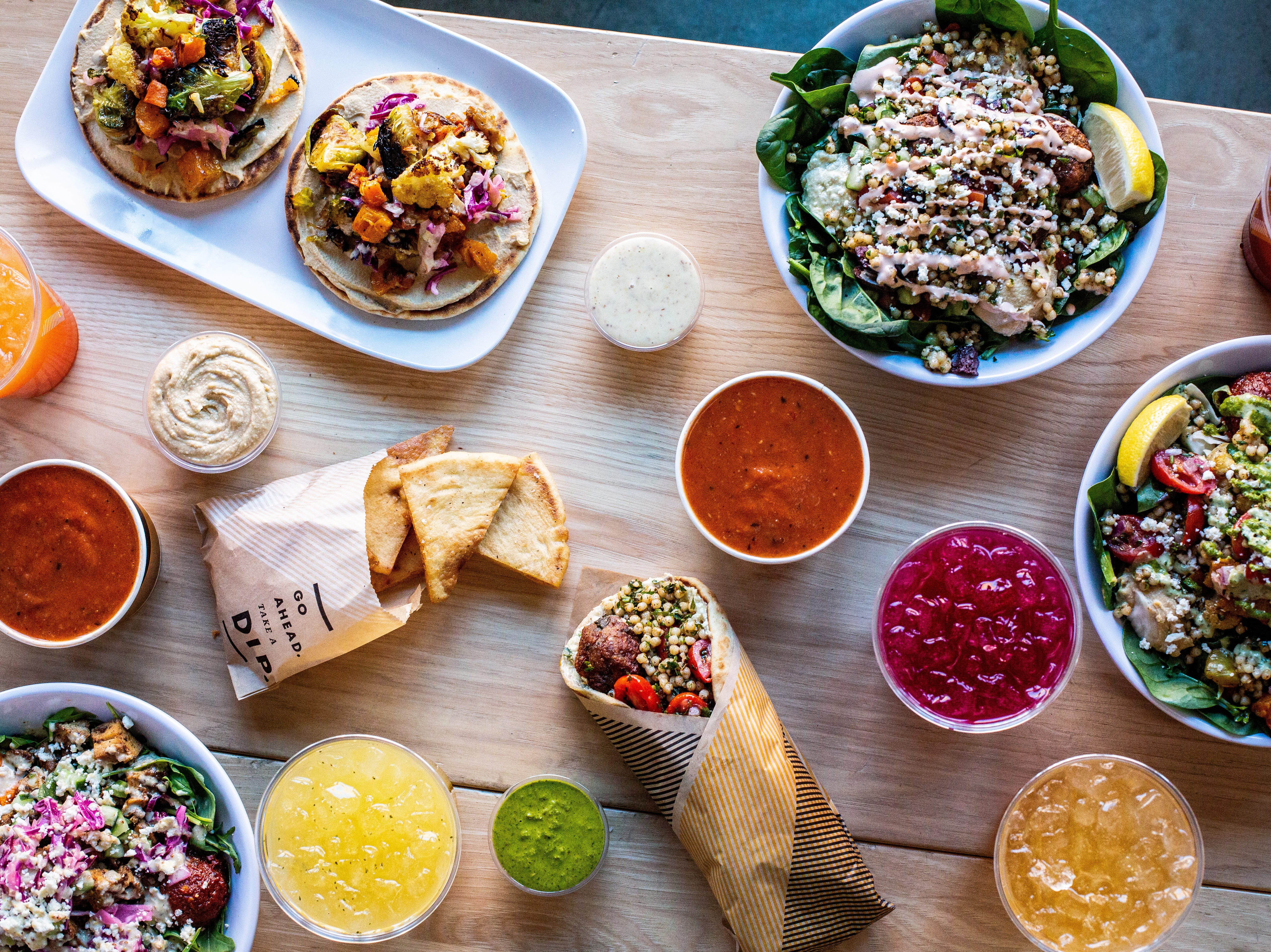 Cava is a fast-casual Mediterranean restaurant offering salads, bowls, dips and more.