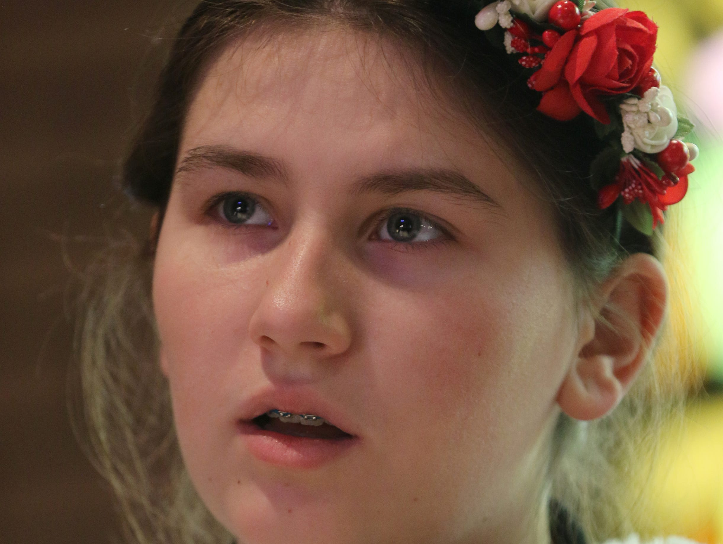 Olena Kurpita sings in the choir at the Ukrainian Orthodox Holy Ascension Church, in Clifton. Monday, January 7, 2019