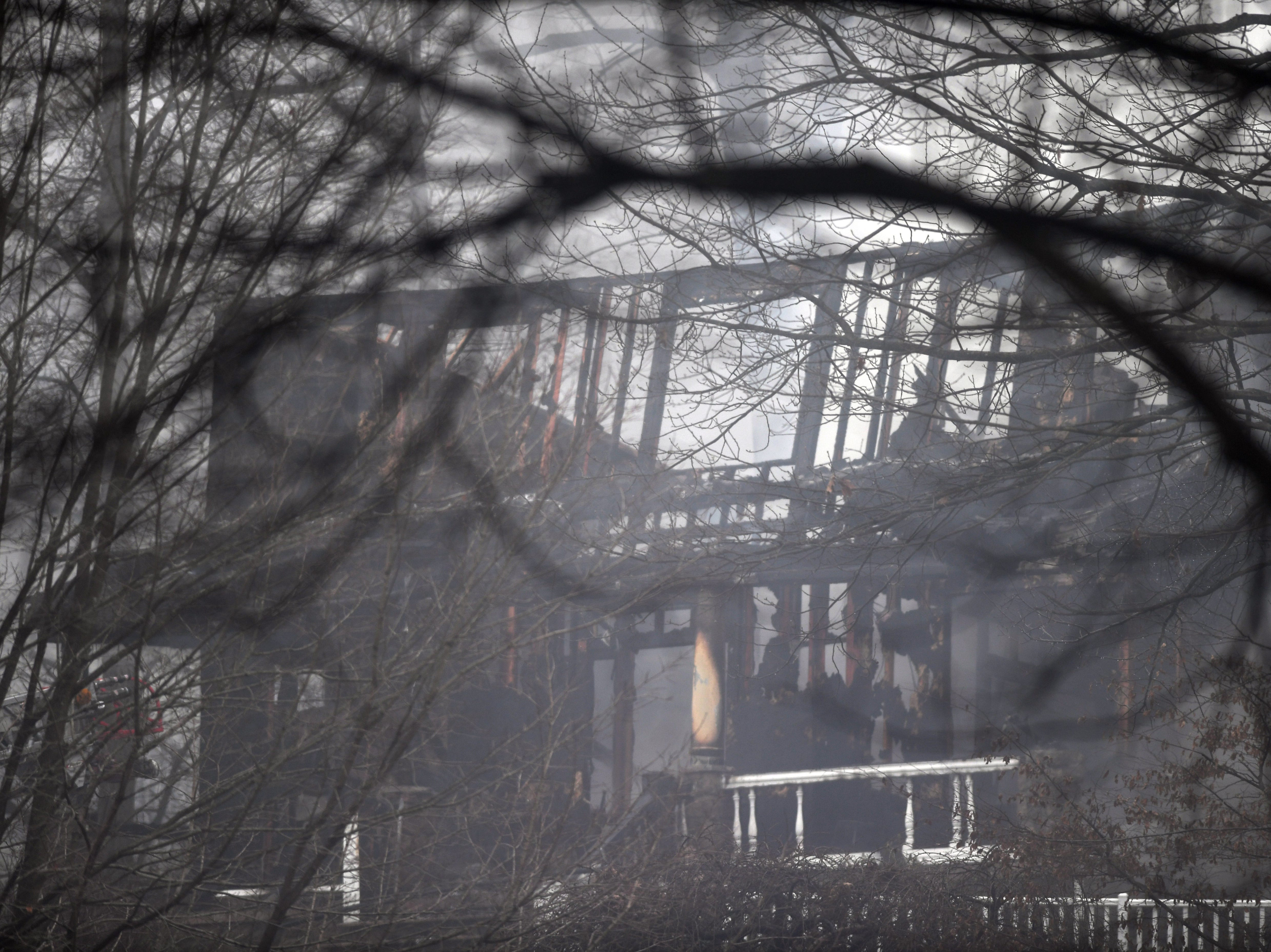 Fire on Skyview Rd in Wayne on Tuesday, January 8, 2019.