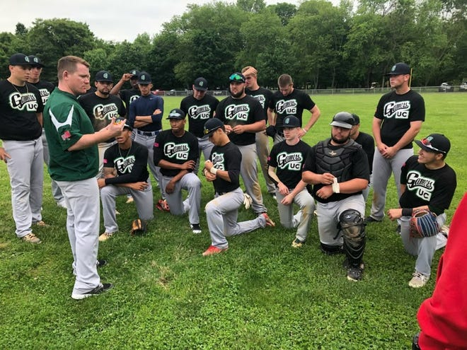 Belleville native Bruce Daddis (green shirt) begins a new role as Union County College baseball coach.