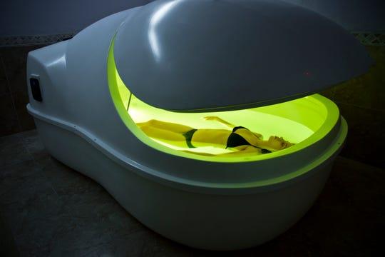 The float pod at BRC Day Spa & Sauna in Fair Lawn, NJ